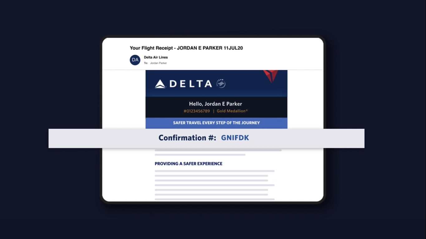 Find Delta Airlines Flight Confirmation Number
